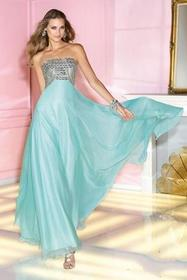 Alyce Paris - 6260 Beaded Strapless Straight Chiff