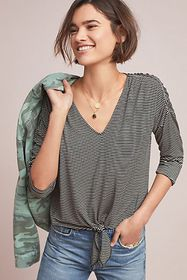 Anthropologie Hadley Tied Top