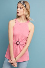 Anthropologie Belted Halter Top