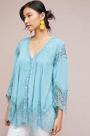 Anthropologie Covington Laced Tunic