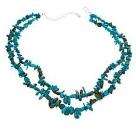 Jay King 2-Strand Chip and Nugget Anhui Turquoise