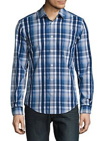 HUGO BOSS Plaid Sportshirt NAVY