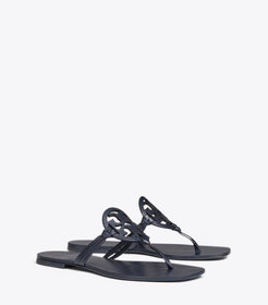 Tory Burch MILLER SQUARE-TOE SANDAL, LEATHER