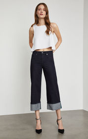 BCBG Cropped Wide Leg Jean