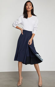 BCBG Colorblocked Pleated Culotte