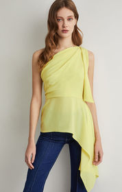 BCBG Draped Shoulder Top
