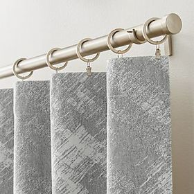 Crate Barrel Buchia Jacquard Curtain Panel