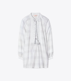 Tory Burch COTTON LACE-UP TUNIC