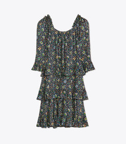 Tory Burch Printed Ruffle Dress