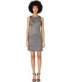 Versace Collection Woven Sheath Mini Dress in Stre