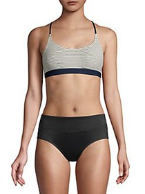 French Connection Striped Racerback Bralette STRIP
