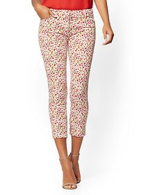 Audrey Crop Slim Leg Pant - Floral - New York & Co