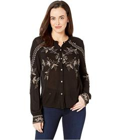 Lucky Brand Embroidered Button Up Top