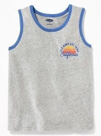 Logo-Graphic Muscle Tank for Toddler Boys