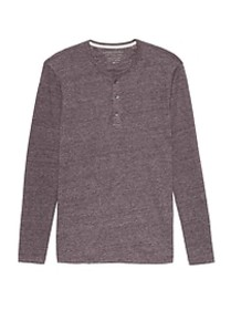 Vintage Long-Sleeve Henley T-Shirt