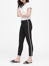 Petite High-Rise Skinny Side-Stripe Cropped Jean
