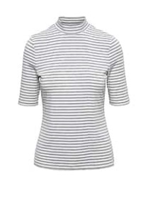 Fitted Mock-Neck T-Shirt