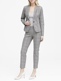 Classic-Fit Bi-Stretch Plaid Blazer