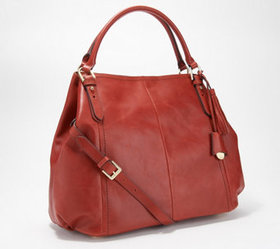 """As Is"" G.I.L.I. Heritage Leather Medium Roma Tote"