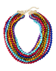 Kenneth Jay Lane Multi-Row Colorful Beaded Necklac
