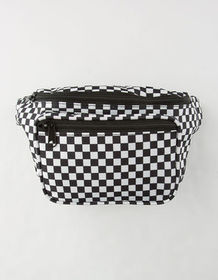 Black Checkered Fanny Pack_