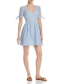 AQUA - Eyelet Fit-and-Flare Dress - 100% Exclusive