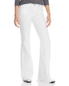 7 For All Mankind - Ginger Flare Jeans in White Fa