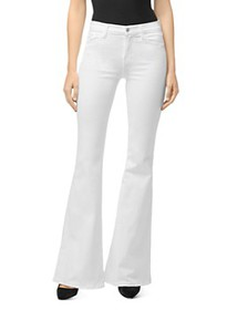 J Brand - Valentina High-Rise Flared Jeans in Blan