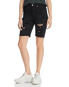 Levi's - 501 High Rise Slouch Denim Shorts in Blac