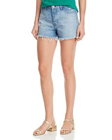 J Brand - Gracie Paint-Splatter Denim Shorts in Po