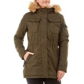 XOXO Junior Sherpa Lined Anorak with Faux Fur Hood