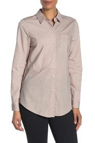 BCBGeneration Button Down Long Sleeve Woven Top
