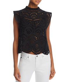 7 For All Mankind - Eyelet Lace Top