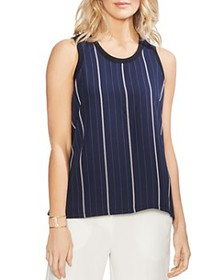 VINCE CAMUTO - Striped Mixed Media Tank