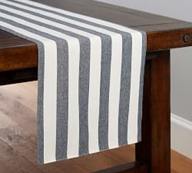 Pottery Barn Wheaton Wide Stripe Table Runner - Sa