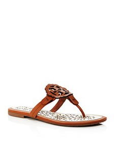 Tory Burch - Women's Miller Scallop Leather Thong