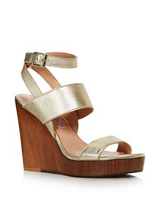Charles David - Women's Turk 2 Leather Wedge Sanda