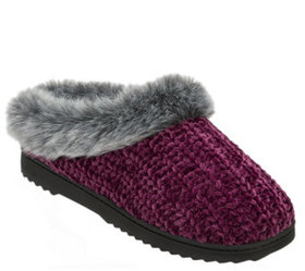 Dearfoams Women's Chenille Slipper Clogs - A418218