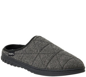 Dearfoams Men's Heathered Knit Quilted Clog Slippe