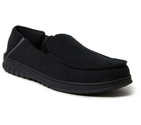 Dearfoams Men's Perforated Moccasin Slippers with