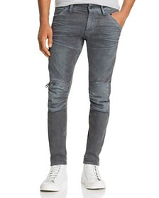 G-STAR RAW - 5620 3D Knee-Zip Skinny Jeans in Dark