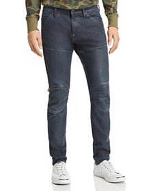 G-STAR RAW - 620 3D Zip Knee Skinny Fit in Dark Ag