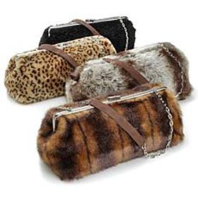Terry Lewis Faux Fur Handbag