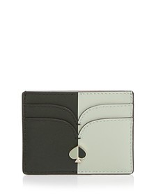 kate spade new york - Color-Block Leather Card Hol