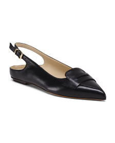 SPINNAKER Made In Italy Leather Pointy Toe Penny L