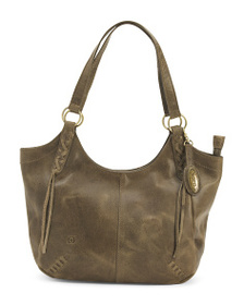 BORN Leather Distressed Daphne Tote