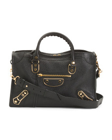 reveal designer Made In Italy Leather City Bag