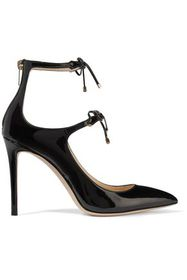 JIMMY CHOO Sage 100 bow-embellished patent-leather