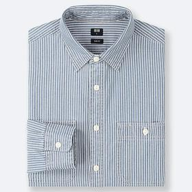 MEN HICKORY WORK SLIM-FIT LONG-SLEEVE SHIRT