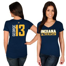Paul George Indiana Pacers Majestic Women's Name &